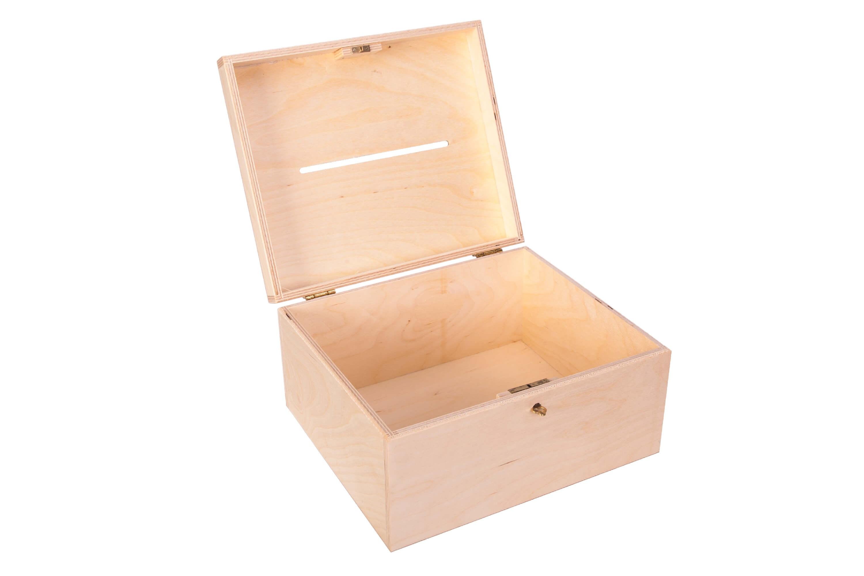 W Ultra Drewniana skrzynka, pudełko na koperty ślubne 29x24,5x15 cm PU0068 KL63